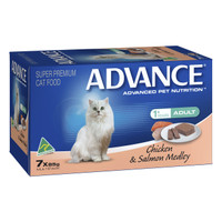 Advance Cat Kitten Chicken And Salmon 85g x 7