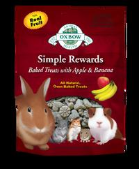 Oxbow Simple Rewards Baked Treats - Apple & Banana 60g