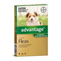 Advantage For Dogs Up To 4kg Green 6 Pack