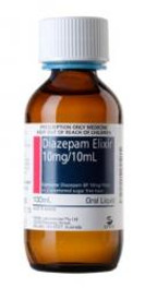 Diazepam Elixir 100mL 10mg/10mL