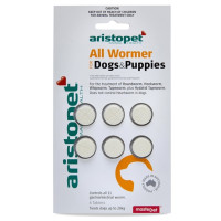 Aristopet All Wormer allwormer for Dogs & Puppies 10kg (6 Pack)