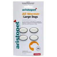 Aristopet All Wormer for Large Dogs 20kg (4 Pack)