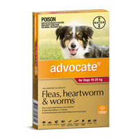 Advocate  For Dogs 10-25kg Large Red 6's