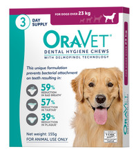 Oravet Dental Hygiene Chews for Large Dogs (>23kg) (3 Chews)