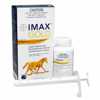 IMAX Gold Liquid Tapewormer, Broad Spectrum Wormer and Boticide for Horses