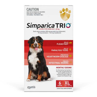 Simparica TRIO (Flea, Tick & Worms) for Dogs 40.1-60kg (6 Pack)