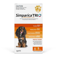 Simparica TRIO (Flea, Tick & Worms) for Dogs 5.1-10kg (6 Pack)