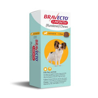 Bravect 1 Month Chew for Dogs 2-4.5kg (1 Pack)