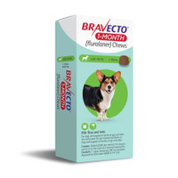 Bravect 1 Month Chew for Dogs 10-20kg (1 Pack)