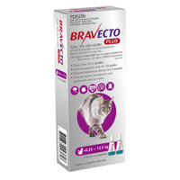 Bravecto Plus Cat Spot-on Purple 6.25-12.5kg (2 Pack)