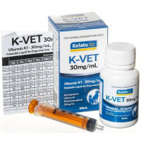K-Vet Vitamin K1 Liquid 30mg/mL 50mL
