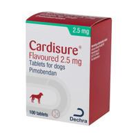 Dechra Cardisure 1.25mg Pimobendan Chewable Flavoured Tablets For Dogs - Congestive Heart Failure