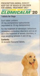 Clomicalm generic Clomipramine 20mg 30 Tablets - Pet Care Pharmacy
