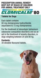 Clomicalm generic Clomipramine 80mg 30 Tablets - Pet Care Pharmacy