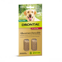 Drontal For Large Dogs 35Kg Chewable (2 Pack)