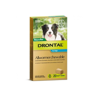 Drontal For Medium Dogs 10Kg Chewable (20 Pack)
