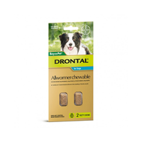 Drontal For Medium Dogs 10Kg Chewable (2 Pack)