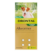 Drontal Tablets for Small Dogs 3Kg (4 Pack)