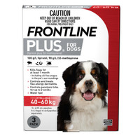 Frontline Plus Extra Large Red (40 - 60kg) 4.02ml 3s