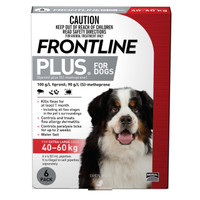 Frontline Plus Extra Large Red (40kg - 60kg) 4.02ml 6's