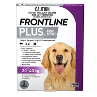 Frontline Plus Large Purple (20kg - 40kg) 2.68ml 3s