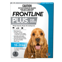 Frontline Plus Medium Blue (10kg - 20kg) 1.34ml 3's