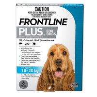 Frontline Plus Medium Blue (10kg - 20kg) 1.34ml 6's