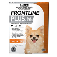 Frontline Plus Small Orange (< 10kg) 0.67ml 6's