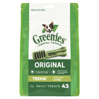 Greenies Treat-Pak Teenie (2 - 7 kg) 340g (43 daily treats)