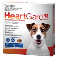 Heartgard 30 Plus Chewables Blue up to 11kg 68mcg 6's