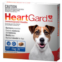 Heartgard 30 Plus Chewables Blue up to 11kg 68mcg 6's