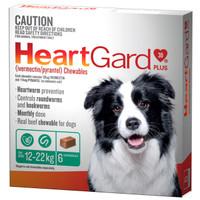 Heartgard 30 Plus Chewables Green 12-22kg 136mcg 6's