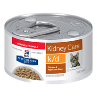 Hills Prescription Diet Feline Kidney Care K/D 82G X 24 (Chicken and Vegetable Stew)