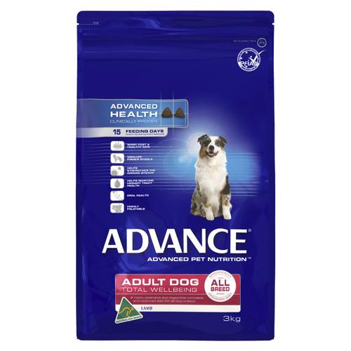 Advance Dog Dry Adult All Breed Lamb 3kg