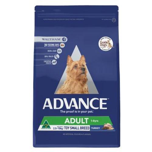 Advance Dog Dry Adult Toy/Small Breed Turkey 8kg