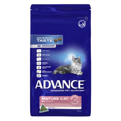 Advance Cat Dry Mature 8+ Years Fish 1.5kg