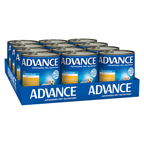 Advance Dog Wet Pupply Plus Growth Lamb Casserole 410g x 12