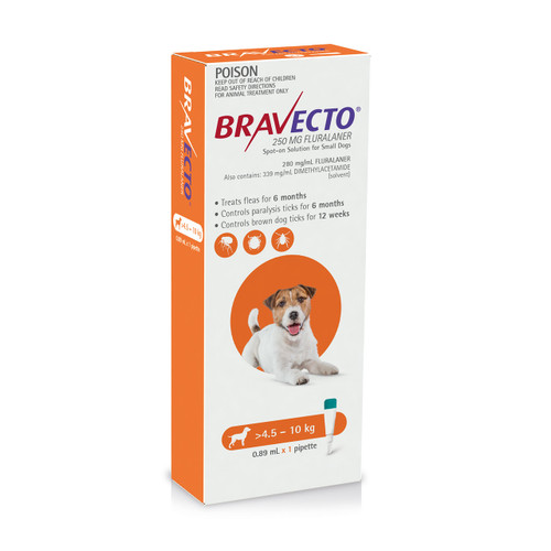 Bravecto Spot On for Dogs Orange 4.5-10kg (1 pack)
