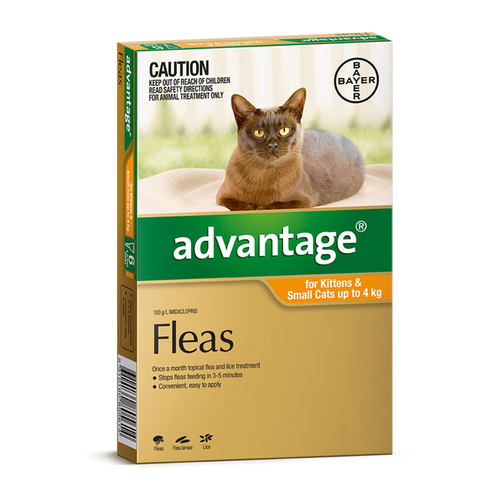 Advantage For Cats Up To 4kg Orange 4 Pack