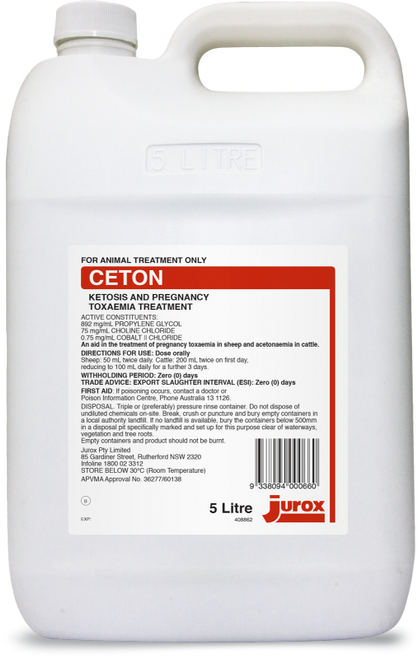 Ceton 5L Ketosis and Pregnancy Toxaemia Treatment