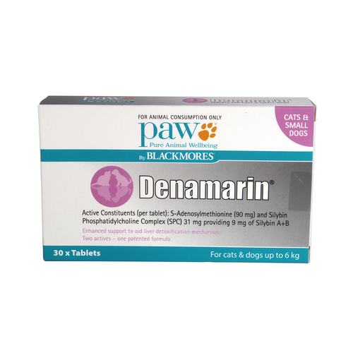 Denamarin Tablets for Cats and Small Dogs Up to 6kg (30)