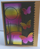 Thermoweb Deco Foil Sheets Summer Rainbow with Memory Box Grassland Collage die