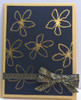 Thermoweb Deco Foil Sheets Gold, Concord & 9th Stamp Set Wildflowers, Flitterglu