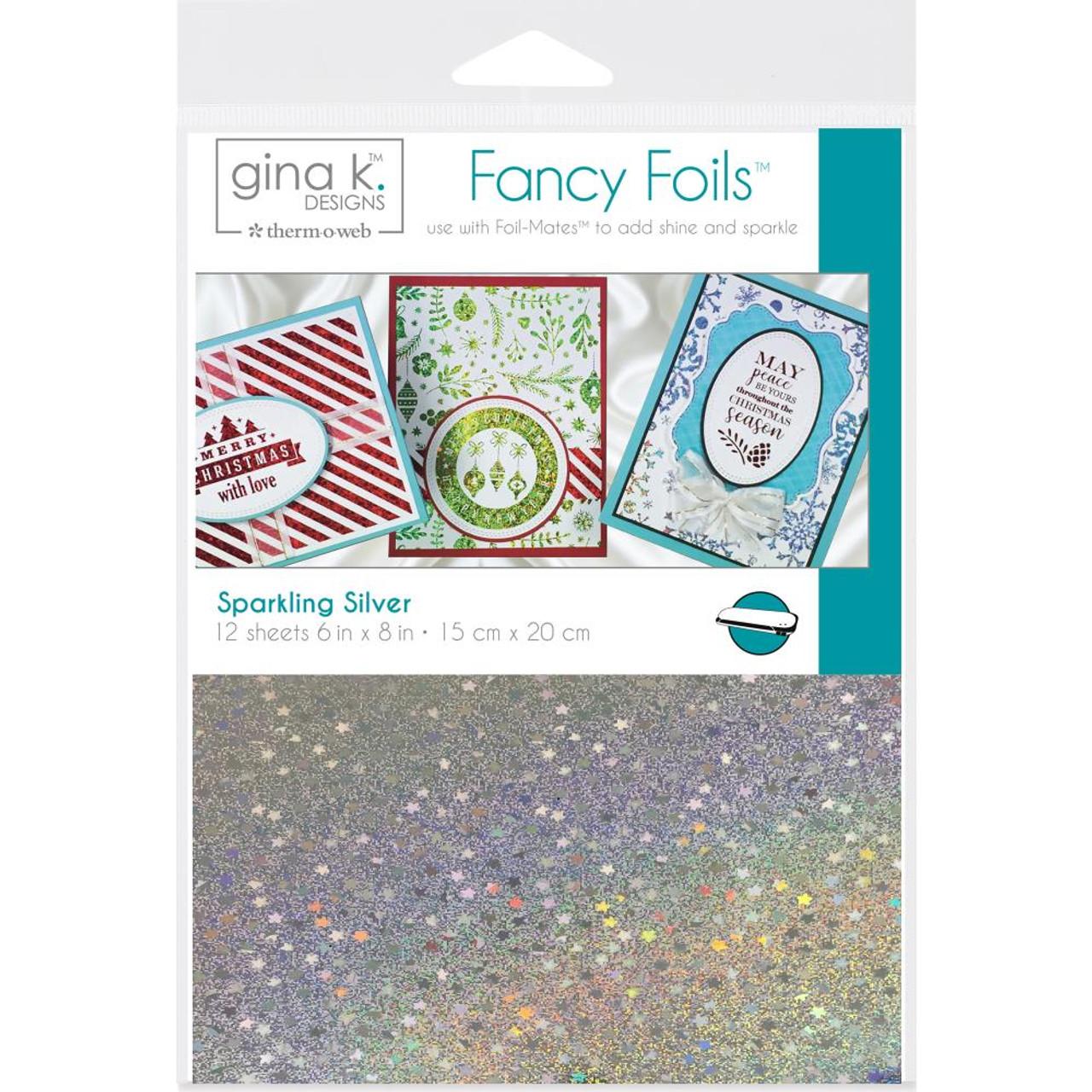 Gina K Designs Fancy Foil 6x8 12//pkg-glimmering Gold