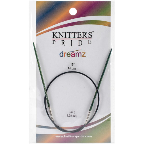 "Knitter's Pride Dreamz Fixed Circular 16"" size 0"