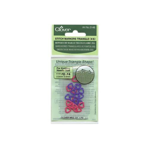 Clover Stitch Markers Triangle Small Sizes US 0-4