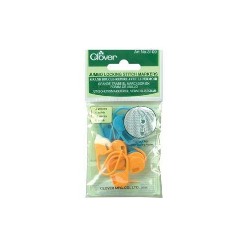 Clover Stitch Markers Locking Jumbo