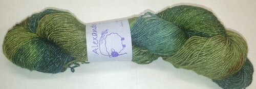 Alexandra's Crafts Agate Beach yarn Evergreen