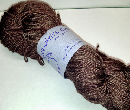 Alexandra's Crafts Black Butte yarn Chocolate