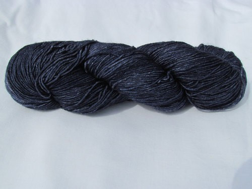 Alexandra's Crafts Black Butte yarn Navy
